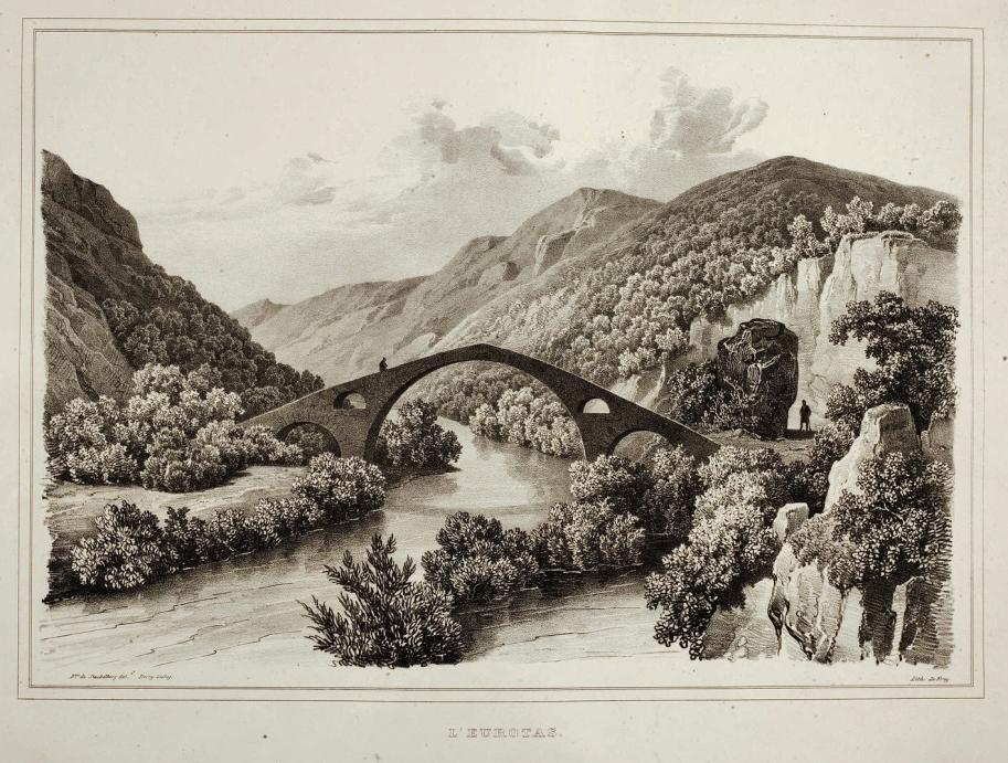 1813 Stackelberg LA GRECE L'Eurotas (Gefyra) 1